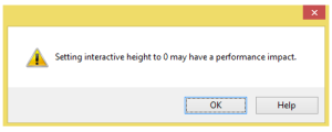 warning message stating can cause performance issues