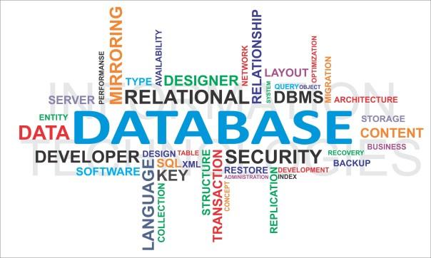Database wordcloud