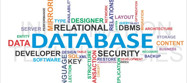 Database wordcloud