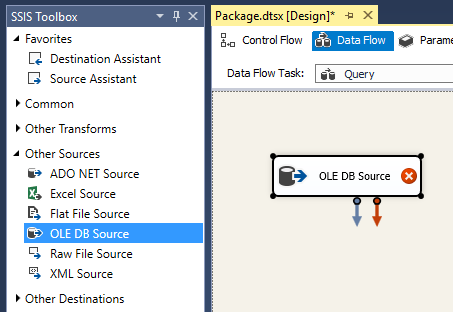 Image showing OLE DB Source creation process