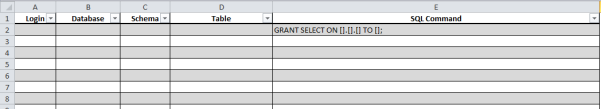 Grant Select Excel Sheet Snippet